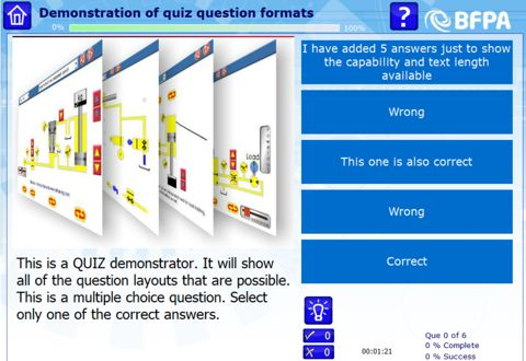 quiz layouts
